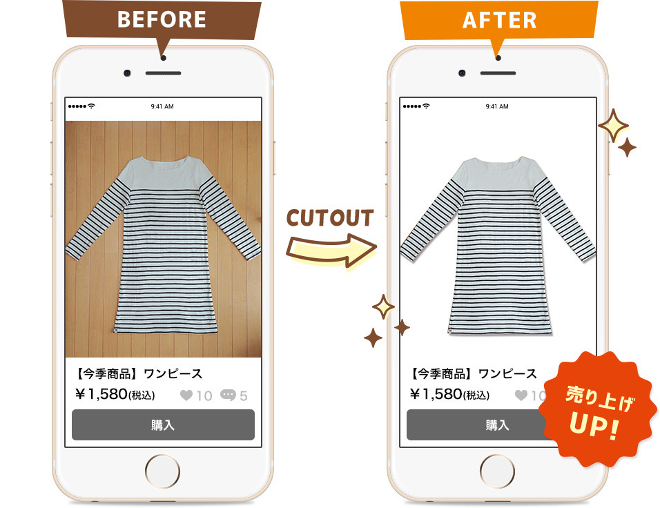 BEFORE→AFTER 売り上げUP!